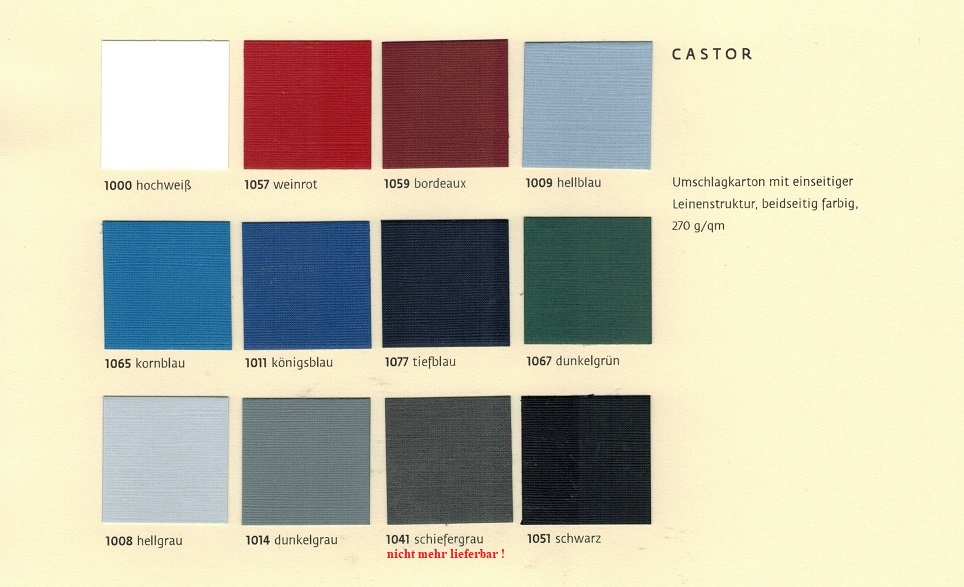 Farbmuster-Castor